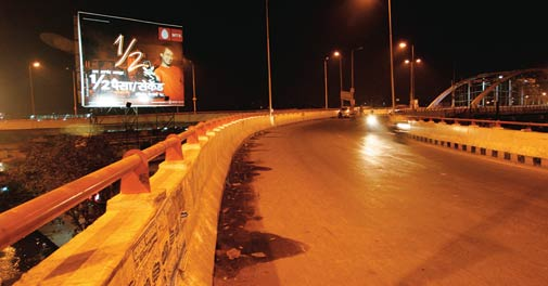 A newly built flyover in Patna. CM Nitish Kumar has built 13,322 km of new roads and 3,648 bridges