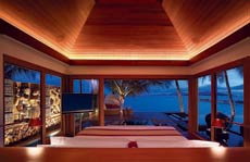 A pristine view of the Bang Rak beach from the mastervilla