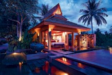 The master-villa comes with a private pool and jacuzzi