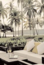 Catch up on work while sipping a glass of wine at the Bay View Lounge