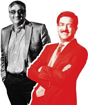 Kishore Biyani and Kumar Mangalam Birla