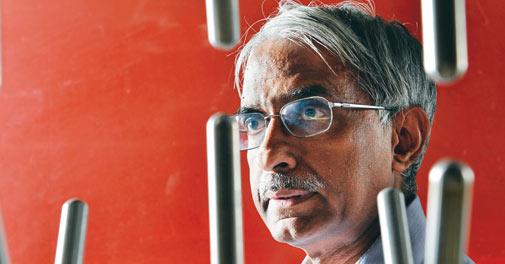 S. Viswanathan, MD, John Fowler India, at his factory near Bangalore