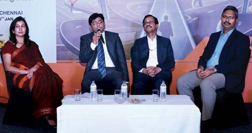 From left: Teena Jain Kaushal, Senior Associate Editor, Money Today; Mohammed Aamir Sulaiman, Assistant Vice President, Investor Education and Distribution Development, Birla Sun Life Asset Management Company; R. Doraiswamy, Regional Manager (Pension and Group Schemes) of Southern Zone of LIC; and Babu Krishnamoorthy, Chief Sherpa at Finsherpa Investment Services, a wealth management company, at the MT investor awareness event in Chennai
