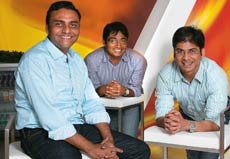 (From L-R) Amit K. Gupta, Global Head, Business Development; Abhay Singhal, Global Head, Ad Sales; & Mohit Saxena, Head, Technology