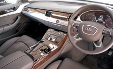Interiors of the Audi A8