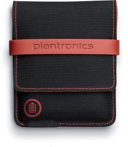 Carrying case with a battery pack.