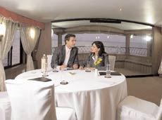 The house boats make fascinating venues for business meetings.