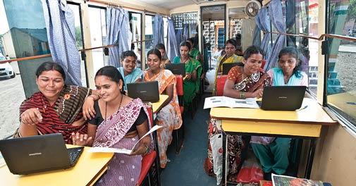 Mann Deshi Udyogini's mobile business schools
