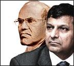 RBI governor Raghuram Rajan (right) D. Subbarao (left)