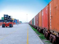 Private Container train at Loni, near Delhi: The Railways is throwing up new opportunities