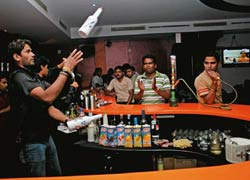 A local pub: Watering holes like liquid are popular with the young in Bhubaneswar