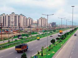 Road to growth: A section of the Taj Expressway in Noida