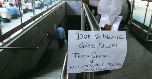 Delhi Metro came to a standstill when the Northern grid failed