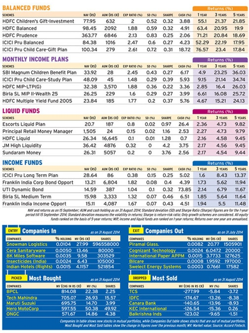 Mutual Fund performance snapshot