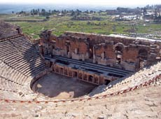 The grand amphitheatre at Ephesus
