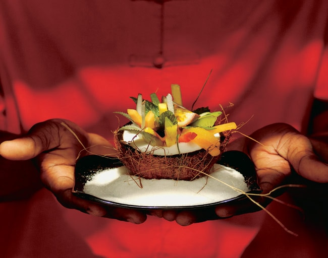 Enjoy a truly Mauritian-style salad at restaurants in the resort