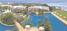 The Sheraton has an idyllic pool as well as a private beach