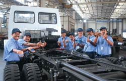 Ashok Leyland employees in happier times: Cost savings have always been a mantra