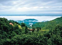 Bird's eye view: Doon Valley drowning in a sea of clouds, as seen from Mussoorie