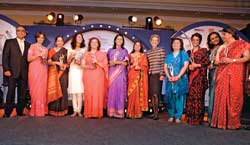 Crème de la Crème: (From L to R) Aroon Purie, Editor-in-Chief, India Today Group; Kalpana Morparia, CEO, JP Morgan India; Shikha Sharma, MD, ICICI Prudential Life; Leena Nair, Executive Director, HUL; Swati Piramal, Director, Piramal Healthcare; Naina Lal Kidwai, Country Head, HSBC India; Ashu Suyash, MD & Country Head-India, Fidelity International; Shelly Lazarus, Chairman & CEO, Ogilvy & Mather Worldwide; Zia Mody, Senior Partner, AZB & Partners; Madhabi Puri-Buch, Executive Director, ICICI Bank; Renuka Ramnath, MD & CEO, ICICI Venture; and Rama Bijapurkar, Management Consultant