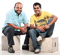 Santosh Padhi (Paddy), 34 (R), and Agnello Dias (Aggie) 43