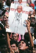 A bloody protest Nano opponents in Singur