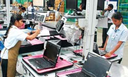 Laptop sales zoom: Dell's plant at Sriperumbudur near Chennai that started operations in July last year