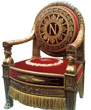 The refurbished throne
