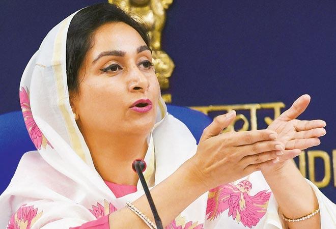 Food processing minister Harsimrat Kaur Badal