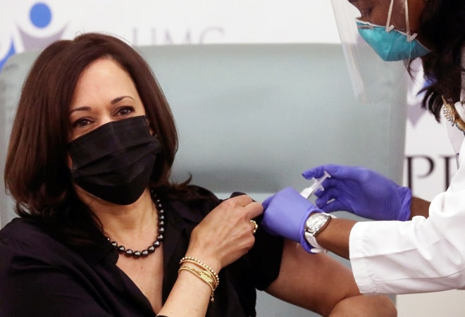 'Barely felt it,' says Kamala Harris after receiving Moderna COVID-19 vaccine