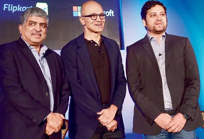 Microsoft CEO Satya Nadella seals cloud deal with Flipkart