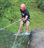 Time for action: Cleartrip's Kasthwal at the Bhivpuri Waterfalls in Maharashtra