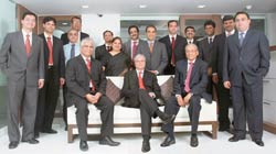 Nimesh Kampani with his team at JM Financial: Creating a one-stop shop for financial services