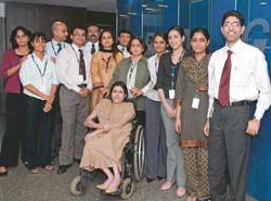 Sangeeta Singh (standing, centre), Executive Director (HR), KPMG India