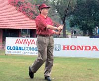 Up, up and away: K.N. Desai, Vice President, Tata Tea, won in the 17-24 handicap category