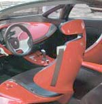 The interior of the Renault Megan Coupe Concept