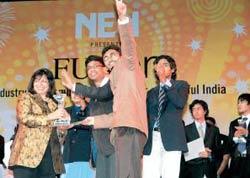 Backers aplenty: Biocon's Mazumdar-Shaw (L) seen here with EWeek winners