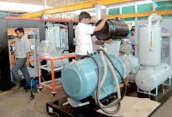 Mastering the technology: An electric air screw compressor at EELs Coimbatore plant