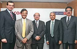 Peter Altabef, CEO, Perot Systems; Pramod Bhasin, President & CEO, Genpact; Som Mittal, President, NASSCOM;