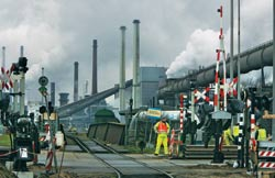 Picking up steam: Tata Steel-Corus factory in Ijmuiden, the Netherlands