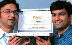 Look, new features: Guruji.com's Anurag Dod (L) and Gaurav Mishra