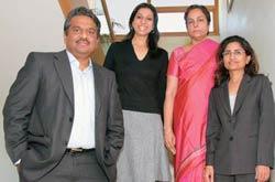 The headhunters' team: (L-R) R. Suresh, Purvi Sheth, Hastha Krishnan and Shilpa Gentela