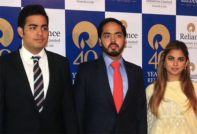 What are the business responsibilities of Mukesh Ambani's children?