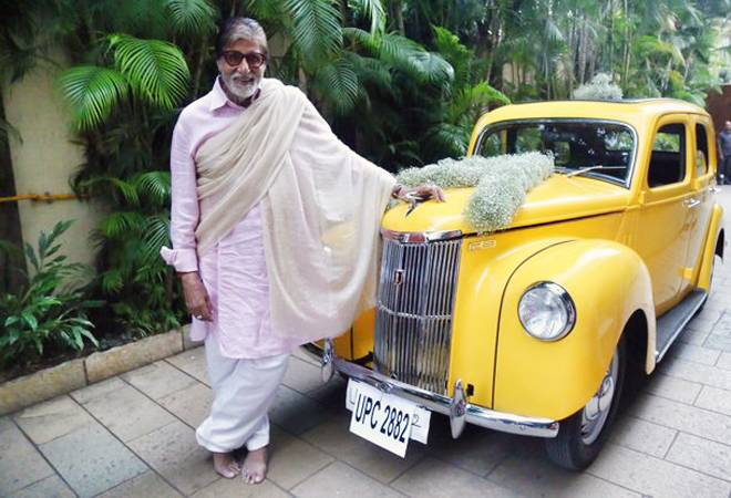"Trip down memory lane! Big B ""speechless� after receiving Ford Prefect, his first family car"