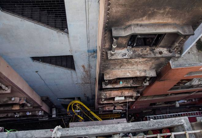 Fire breaks out in same Anaj Mandi building in Delhi on Monday; no causalities reported