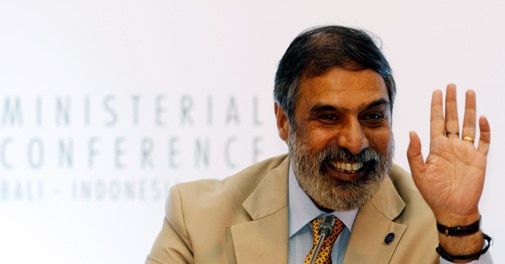 Commerce and Trade Minister Anand Sharma at the ninth World Trade Organization Ministerial Conference