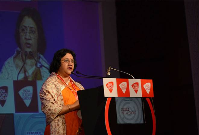 Arundhati Bhattacharya, Chairman of the country's largest bank, State Bank of India.