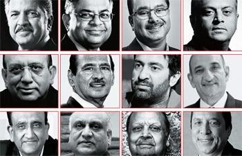 (Clockwise from top) Anand Mahindra, Mahindra & Mahindra; N Chandrasekaran, TCS; GV Bhaskar Rao, Kaveri Seed Company; Kapil Mehan, Coromandel International