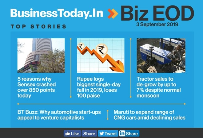 Biz EOD: 5 reasons why Sensex crashed over 850 points today and more