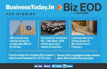 Biz EOD: SBI cuts savings rate; manufacturers to restart factories; lending rates on falling spree